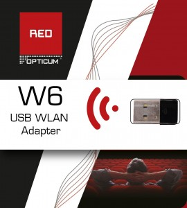 ADAPTER USB WIRELESS OPTICUM RED W6 BLISTER