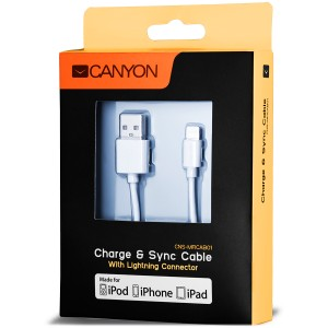 CANYON CNS-MFICAB01W kabel lightning 1m