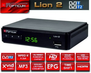 TUNER DVB-T/T2 HD AX LION 2 OPTICUM