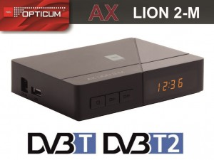 Dekoder DVB-T/T2 HD Opticum  AX LION 2-M